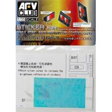 Наклейка для имитации анти-бликового покрытия линз для Merkava MK.IV
