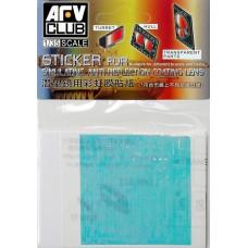 Наклейка для имитации анти-бликового покрытия линз LAV-25