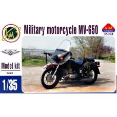 Советский армейский мотоцикл МВ-650 с коляской