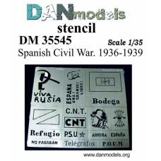 Фототравление: Трафарет - гражданская война в Испании 1936-39 гг.