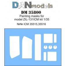 Маска для модели автомобиля ЗиЛ-131 (ICM)