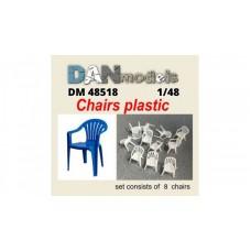 Аксессуары для диорамы. Пластиковые стулья 8 шт.