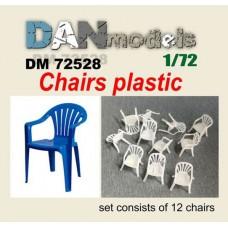 Аксессуары для диорамы. Пластиковые стулья 12 шт.