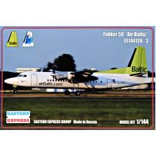 Пассажирский самолет Fokker 50 Air Baltic