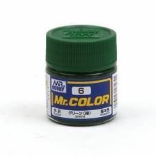 """Краска эмалевая """"Mr. Color"""" зеленая, 10 мл"""