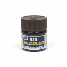 "Краска эмалевая ""Mr. Color"" оливковая (1) авиация США, 10 мл"