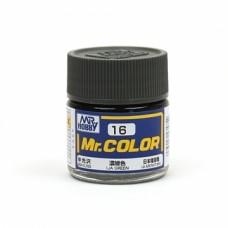 """Краска эмалевая """"Mr. Color"""" зеленая, армия Японии, 10 мл"""