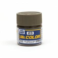 """Краска эмалевая """"Mr. Color"""" темно-зеленая (2), 10 мл"""