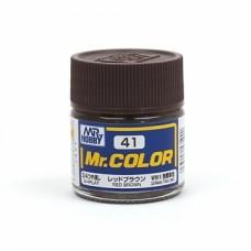 """Краска эмалевая """"Mr. Color"""" красно-коричневая, 10 мл"""
