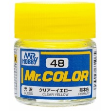 """Краска эмалевая """"Mr. Color"""" прозрачная желтая, 10 мл"""