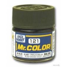 """Краска эмалевая """"Mr. Color"""" коричнево-фиолетовая RLM81, 10 мл"""