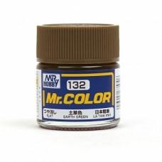 """Краска эмалевая """"Mr. Color"""" зеленая земля, 10 мл"""
