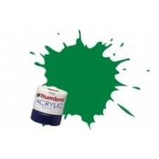 Краска водорастворимая HUMBROL зеленый малахитовый матовый жд