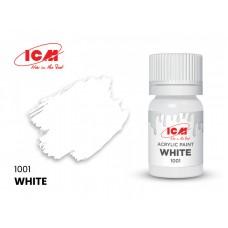 Акриловая краска ICM, белый