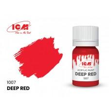 Акриловая краска ICM, красная