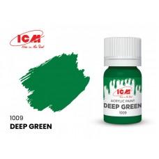 Акриловая краска ICM, зеленая