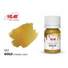 Акриловая краска ICM, золотая металлик