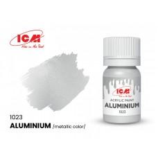 Акриловая краска ICM, алюминий металлик