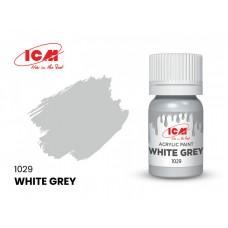 Акриловая краска ICM, бело-серая