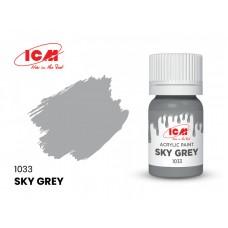 Акриловая краска ICM, небесно-серая