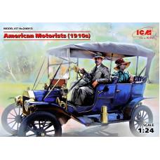 Американские автолюбители 1910г.