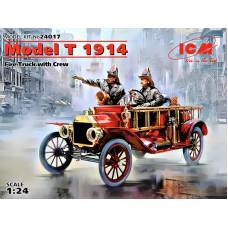 Американский пожарный автомобиль Model T 1914 с экипажем