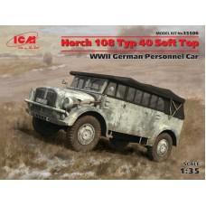 Германский автомобиль Horch 108 Typ 40, мягкий тент