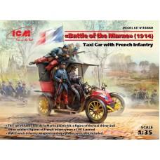 """Машина такси с французской пехотой, """"Битва на Марне"""" (1914)"""