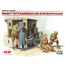 Санитарный автомобиль: Модель Т 1917г. с медицинским персоналом США