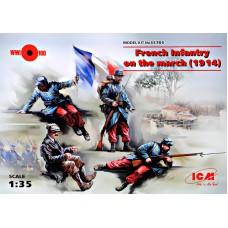 Французская пехота 1914 года на марше