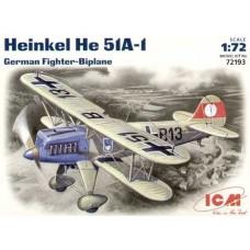 Германский истребитель-биплан Heinkel He-51 A1