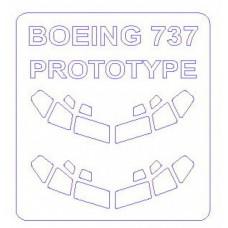 Маска для моделей самолетов Boeing 707, 727, 737 (Correct)
