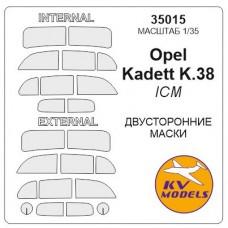 Маска для модели автомобиля Opel Cadet K.38, двухсторонняя (ICM)