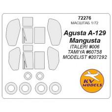 """Маска для модели вертолета Agusta A129 """"Mangusta"""" (Italeri)"""
