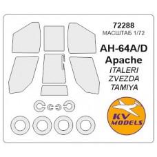 Маска для модели вертолета AH-64A/D Apache (Italeri)