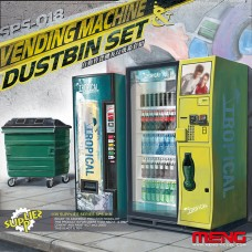 Торговый автомат и мусорный контейнер