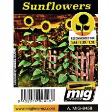 Растения, лазерная нарезка A-MIG-8458: Подсолнухи