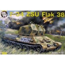 Самоходная зенитная установка ЗСУ-38 базе танка T-34