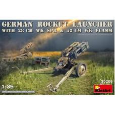 Немецкая ракетная установка с реактивными снарядами 28 см Wk.Spr и 32 см Wk.Flamm