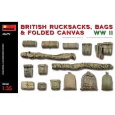 Британские рюкзаки, сумки и сложенный брезент 2МВ