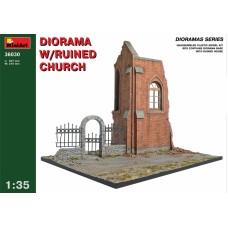 Диорама с руинами церкви