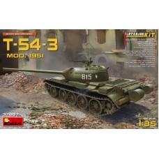 Танк Т-54-3 с полным интерьером, 1951 г.