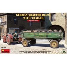 Немецкий трактор D8506 с прицепом