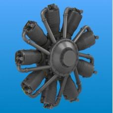 Двигатель Le Rhone 110-120 h.p.Oberursel Ur.II (смола)