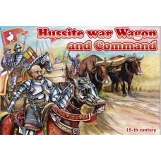 Гуситская военная телега и фигурки командования