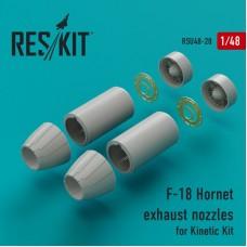 Выхлопные сопла для самолёта F-18 Hornet для набора (Kinetic Kit)
