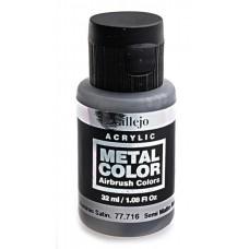 """Краска акриловая """"Metal Color"""" полу-матовый алюминий, 32 мл"""
